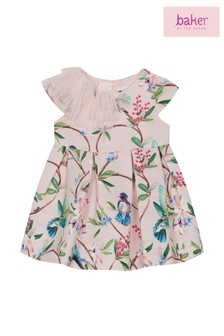 f24f7cc5aa030 baker by Ted Baker Baby Girls Border Printed Dress