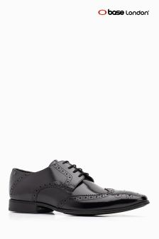 Base London® Black Lace Up Brogue