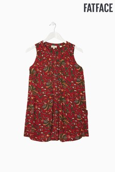 FatFace Red Ellie Alhambra Palm Longline Top