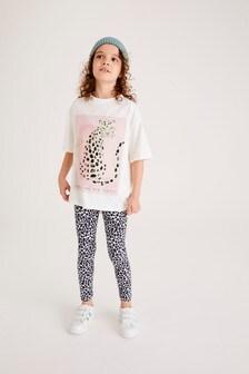 Leopard T-Shirt And Leggings Set (3-16yrs)