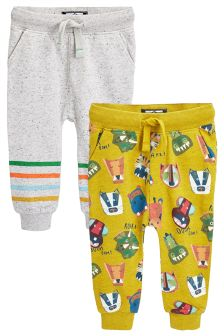 Animal All Over Print Joggers Two Pack (3mths-6yrs)