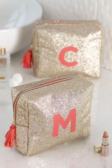 Glitter Monogram Make-Up Bag