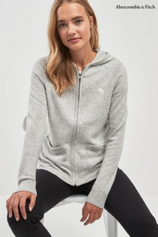 Abercrombie & Fitch Cashmere Zip Up Hoody