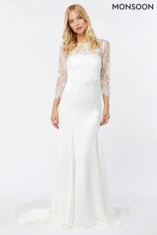 Monsoon Ivory Cynthia Maxi Bridal Dress