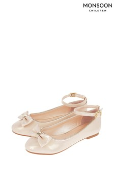 Ballerines Monsoon Danielle rose pâle vernies scintillantes avec nœud