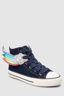 Zapatillas hi-top con diseño arcoíris (Niño mayor)