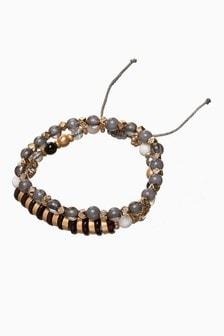 Beaded Expander Bracelet Two Pack