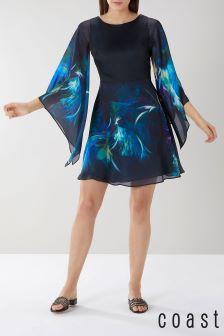 Coast Green Montego Print Short Dress