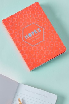 A5 Lined Hopes Neon Notebook