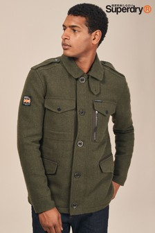 Superdry Khaki Tito 4 Pocket Wool Jacket