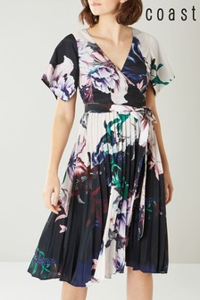 Coast Blue Felicity Printed Pleat Dress