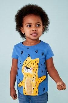 Cheetah Short Sleeve Interactive T-Shirt (3mths-7yrs)