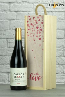 With Love Rioja Reserva Wood Box Gift by Le Bon Vin