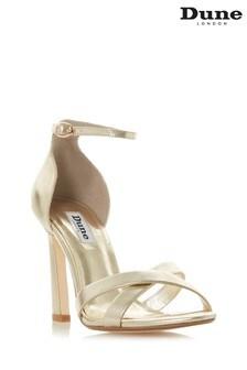 72508b4c1227 Dune London Gold Leather Shoe