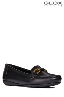 Geox Annytah Black Horsebit Loafer