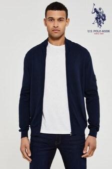 U.S. Polo Assn. Knit Full Zip Jumper