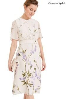 Phase Eight Neutral Eden Floral Dress