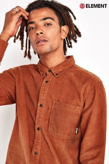 Element Orange Lumber Cord Shirt
