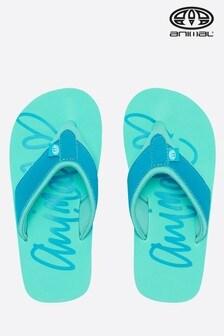 נעלי אצבע לבנות עם לוגו Swish של Animal