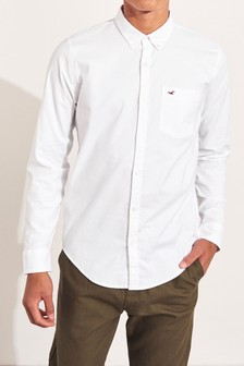 Hollister White Oxford Shirt