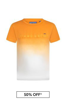 Jacob Cohen Boys Orange Cotton T-Shirt