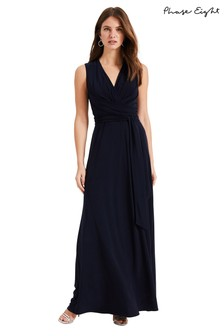 Phase Eight Blue Leila Tie Maxi Dress