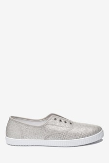 Canvas Laceless Pumps