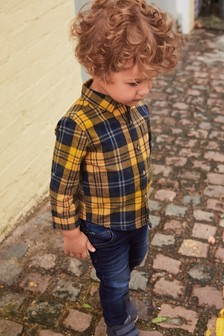 Check Long Sleeve Shirt (3mths-6yrs)