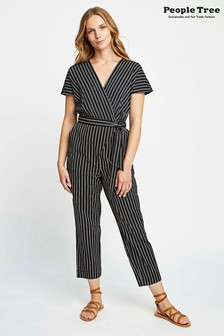 People Tree Black Organic Cotton Mimi Jumpsuit