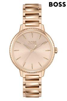 BOSS Signature Carnation Gold Bracelet Watch