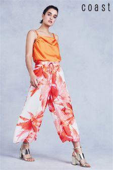 Coast Orange Tansia Printed Culotte
