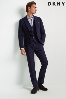 DKNY Slim Fit Blue Check Trouser