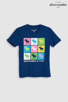 Abercrombie & Fitch Navy Moose Logo T-Shirt