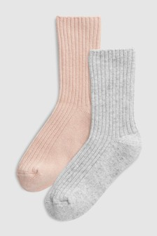 Cashmere Mix Socks In A Box Two Pack