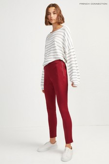 French Connection Red Skinny Twill Trouser