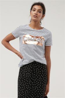 Chéri Graphic Stripe T-Shirt