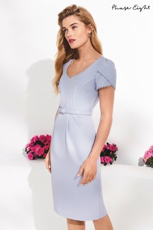 Phase Eight Pale Blue Alva Sweetheart Neck Dress