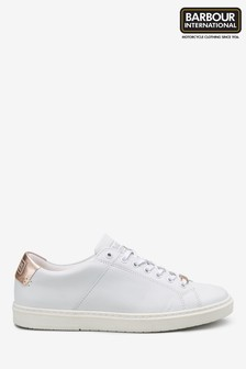 Barbour® International Herrera White/Rose Gold Trainer