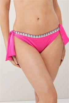 Lace Side High Leg Bikini Briefs