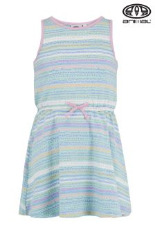 Animal Luckee Misty Green Printed Elastic Waist Dress