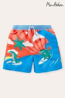 Boden Orange Printed Bathers Swim Shorts