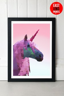 East End Prints Unicorn print by Studio Cockatoo Framed Print