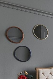 Súprava 3 zrkadiel s metalickým rámom