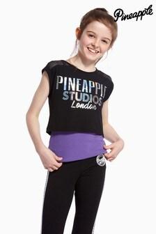 Pineapple Mesh Panel Double Layer T-Shirt