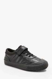 Кожаные стеганые туфли с эластичными шнурками (Подростки)