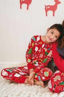 Christmas Printed Jersey All-In-One (3-16yrs)