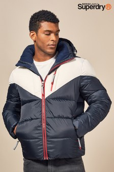 Superdry Navy Albion Padded Jacket