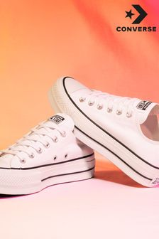 Converse Chuck Ox Leather Platform Trainers