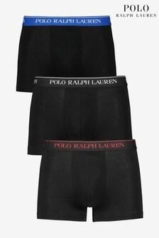 Polo Ralph Lauren Black Plain Trunks 3 Pack