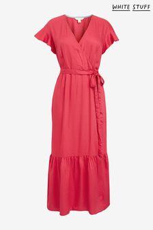 White Stuff Pink Harriet Wrap Dress